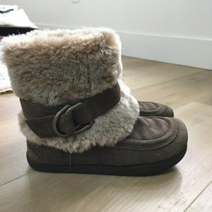 Earth Iridessa Suede and Fur Boots